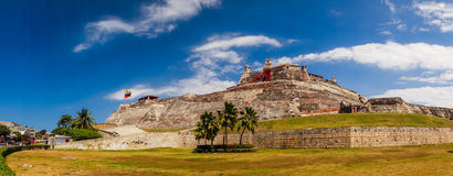 Castillo San Felipe Barajas, imponująco forteca Zdjęcia Royalty Free