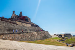 Castillo San Felipe Barajas, impressive fortress Royalty Free Stock Photo
