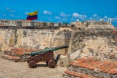 Castillo San Felipe Barajas, impressive fortress Royalty Free Stock Image