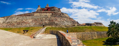 Castillo San Felipe Barajas, impressive fortress Royalty Free Stock Images