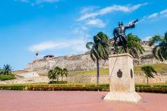 Castillo San Felipe Barajas, impressive fortress Royalty Free Stock Photography