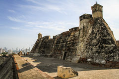Castillo San Felipe de Barajas, Cartagena de Indias, Colombia. The Castillo San Felipe de Barajas is a fortress in the city of Cartagena, Colombia. The castle is stock photo