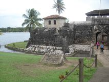 Castillo of San Felipe de Lara located near the Lake of Rio Dulce, Izabal, Guatemala, Central America 3. Rio Dulce is an awesome place located in the north east stock photo