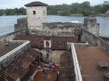 Castillo of San Felipe de Lara located near the Lake of Rio Dulce, Izabal, Guatemala, Central America 29. Rio Dulce is an awesome place located in the north east stock images