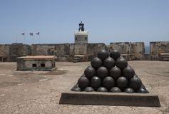 Castillo San Felipe del Moro Сан-Хуан Пуэрто-Рико стоковое изображение
