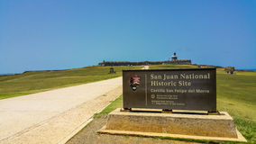 Castillo San Felipe del Morro. San Juan National Historic Site Stock Images