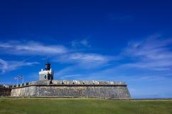 Castillo San Felipe Del Morro in San Juan, Puerto Rico stockbilder