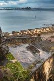 Castillo San Felipe del Morro. Ramp in Castillo San Felipe del Morro with Caribbean sea in background Stock Image