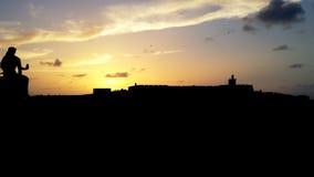 Castillo San Felipe del Morro. Silhouette Castillo San Felipe del Morro Stock Photos