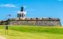 Castillo San Felipe Del Morrro, Oud San Juan, Puerto Rico Stock Afbeeldingen