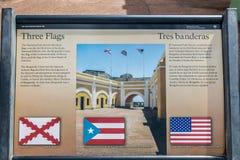 Castillo San Felipe Del Morrro, Oud San Juan, Puerto Rico Stock Fotografie