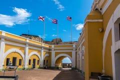 Castillo San Felipe Del Morrro, Oud San Juan, Puerto Rico Stock Foto's