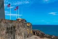 Castillo San Felipe Del Morrro, Oud San Juan, Puerto Rico Stock Afbeelding