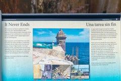 Castillo San Felipe Del Morrro, Oud San Juan, Puerto Rico Royalty-vrije Stock Afbeeldingen
