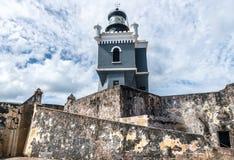 Castillo San Felipe Del Morrro, Oud San Juan, Puerto Rico Royalty-vrije Stock Afbeelding