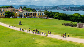 Castillo San Felipe Del Morrro, Oud San Juan, Puerto Rico Royalty-vrije Stock Fotografie
