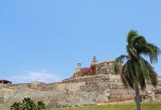 Castillo San Felipe forteca w Cartagena, Kolumbia Zdjęcia Royalty Free