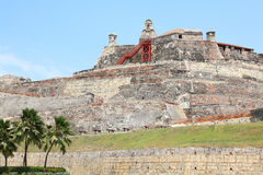Castillo San Felipe fortress in Cartagena, Colombia. Royalty Free Stock Images
