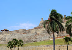 Castillo San Felipe fortress in Cartagena, Colombia. Royalty Free Stock Photography