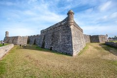 Castillo San Marcos, St Augustine, Florida.  stock photo