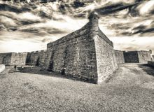 Castillo San Marcos, St Augustine, Florida.  Royalty Free Stock Images