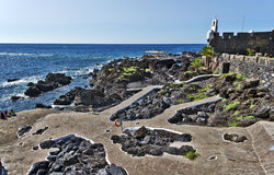 Castillo San-Miguel and natural pools Garachico village in Tener Royalty Free Stock Images