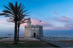 San Nicolas castle stock photo