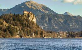 Castillo sangrado, Eslovenia Fotos de archivo