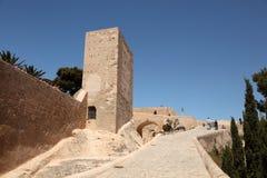 Castillo Santa Barbara en Alicante Fotografía de archivo