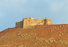 Castillo Santa Barbara, Mount Guanapay, Lanzarote Royalty Free Stock Images
