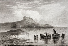 Castillo santo de la isla Imagen de archivo