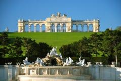 Castillo Schönbrunn, Gloriette Imágenes de archivo libres de regalías