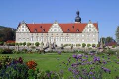 Castillo Schloss Weikersheim y jardín imagen de archivo