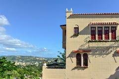 Castillo Serralles dwór - Ponce, Puerto Rico fotografia royalty free