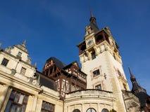 Castillo Sinaia Rumania de Peles Fotos de archivo libres de regalías
