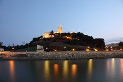 Castillo Sohail i Fuengirola, Spanien Arkivbilder
