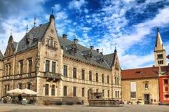 Castillo, St Vitus Cathedral en el castillo de Praga en Praga, checa con referencia a Fotografía de archivo