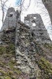 Castillo STARY HRAD, Eslovaquia Imagen de archivo