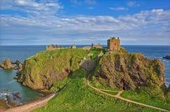 Castillo Stonehaven Escocia de Dunnotar Imagen de archivo