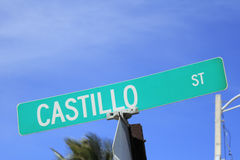 Castillo Street Sign Royalty Free Stock Photo