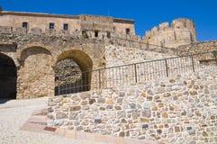 Castillo suabio de Rocca Imperiale Calabria Italia Imagen de archivo