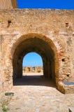 Castillo suabio de Rocca Imperiale Calabria Italia Imágenes de archivo libres de regalías