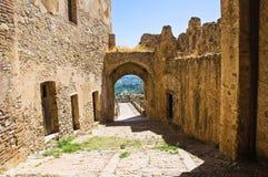 Castillo suabio de Rocca Imperiale Calabria Italia Fotos de archivo
