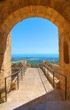 Castillo suabio de Rocca Imperiale Calabria Italia Fotos de archivo libres de regalías