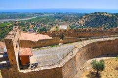 Castillo suabio de Rocca Imperiale Calabria Italia Foto de archivo libre de regalías