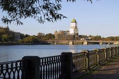 Castillo sueco viejo en Vyborg, Rusia 2015 años Fotografía de archivo