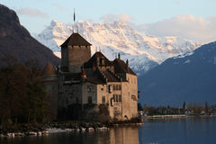Castillo Suiza de Chillon foto de archivo libre de regalías