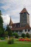 Castillo suizo medieval Fotos de archivo