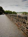 Castillo superior del castillo - galería - almenajes Imagen de archivo
