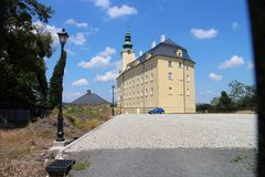 Castillo superior en Fulnek Imagenes de archivo